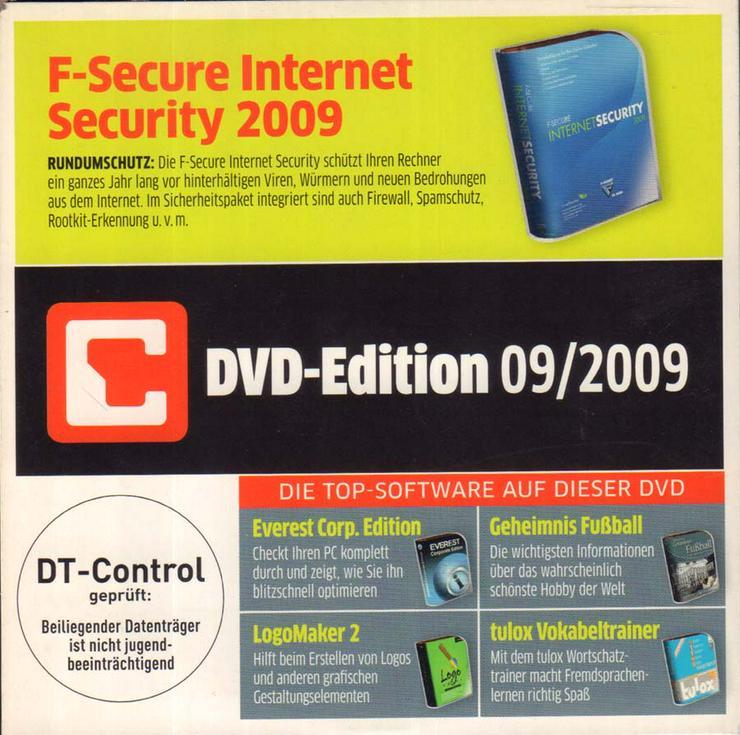 Bild 2: Computerzeitschrift CHIP 09/2009 mit Original-DVD