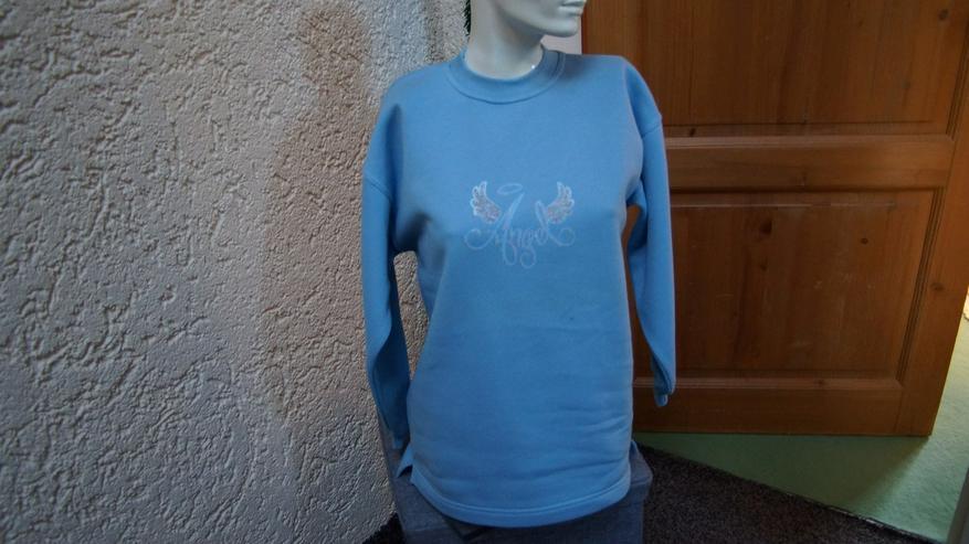 Sweatshirt-Print, Gr. 152/158, NEU, hellblau