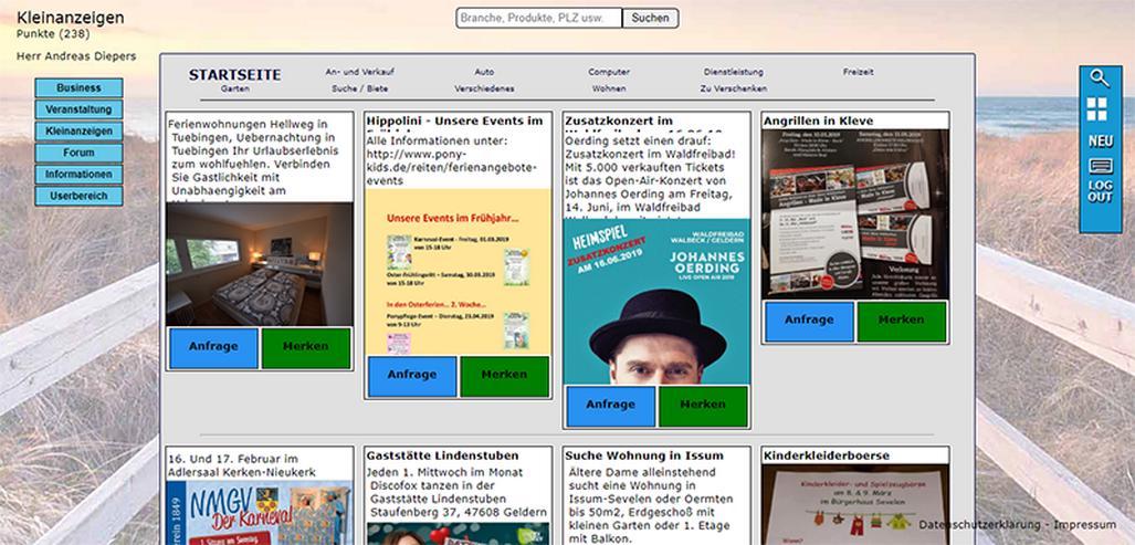 Bild 3: Qutrigo - Werbung für Business, gratis Inserate für Veranstaltungen und Kleinanzeigen
