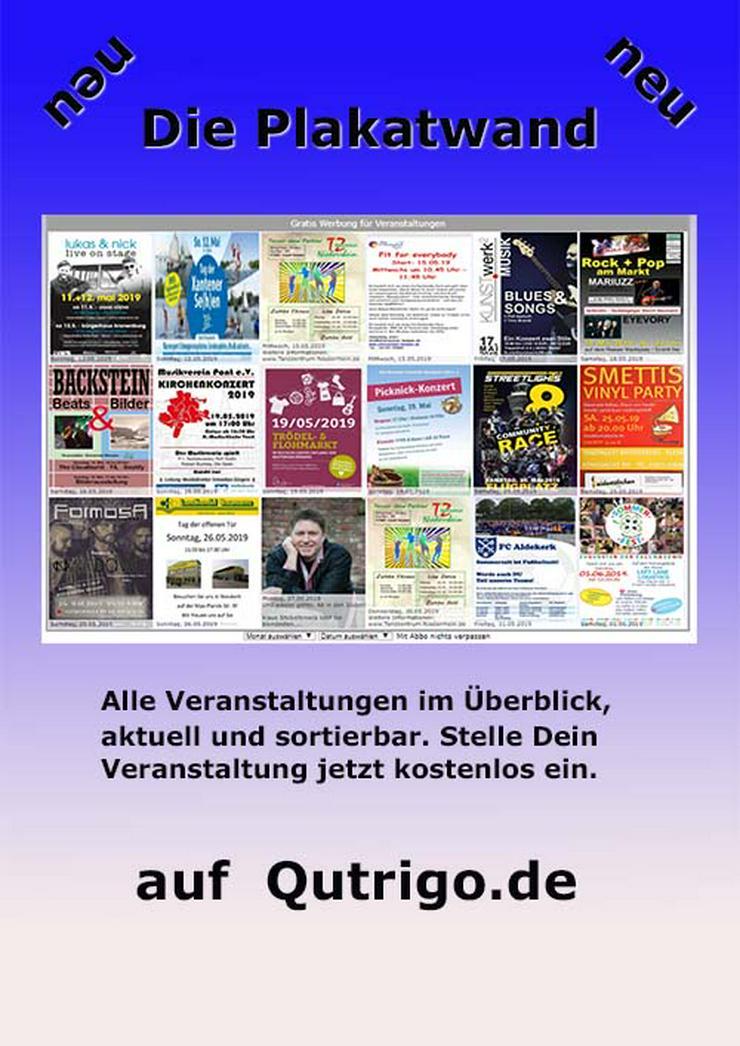 Qutrigo - Wir verbreiten Ihre Webseite im Internet, Gratis inserieren für Veranstaltungen auf der Plakatwand. - Print & Werbung - Bild 1