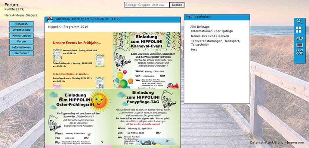 Bild 2: Qutrigo - Werbung für Business, gratis Inserate für Veranstaltungen und Kleinanzeigen
