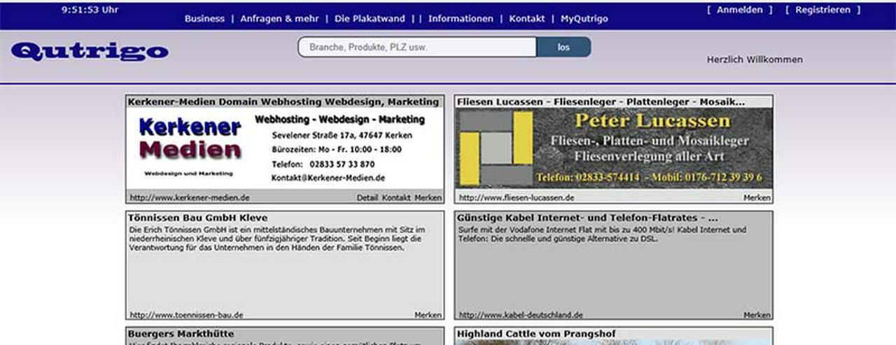 Bild 2: Qutrigo - Wir verbreiten Ihre Webseite im Internet, Gratis inserieren für Veranstaltungen auf der Plakatwand.