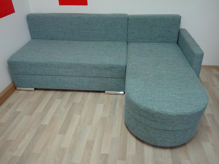 Sofa blau meliert