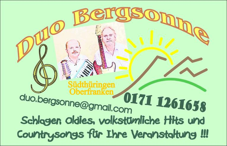 Musikerduo Bergsonne - Musik, Foto & Kunst - Bild 1