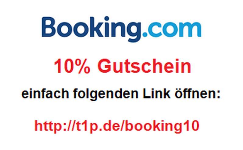 10% Gutschein für eine Buchung bei booking com