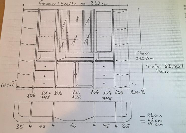 Bild 4: Schrankwand, Kieferschrank, Schrank, Wohnzimmerschrank