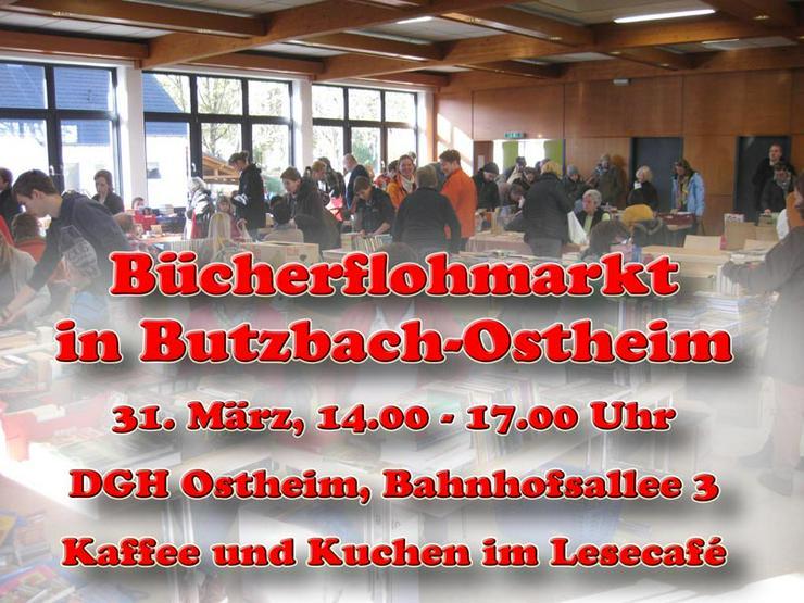 Großer Bücherflohmarkt in Butzbach/Ostheim