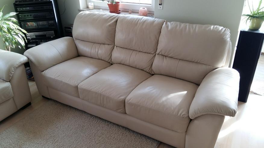 Bild 2: Leder-Couch 2 + 3 Sitzer
