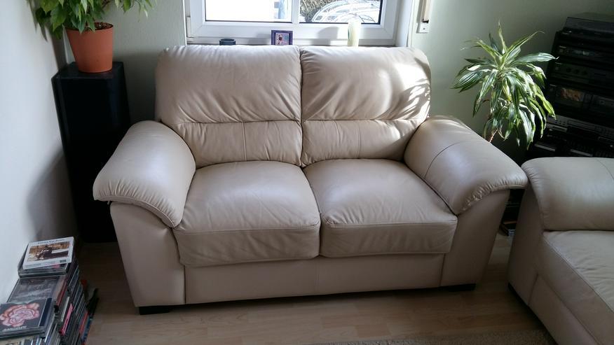 Bild 3: Leder-Couch 2 + 3 Sitzer