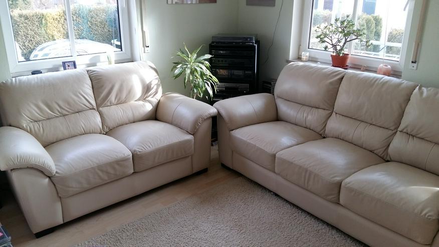 Leder-Couch 2 + 3 Sitzer