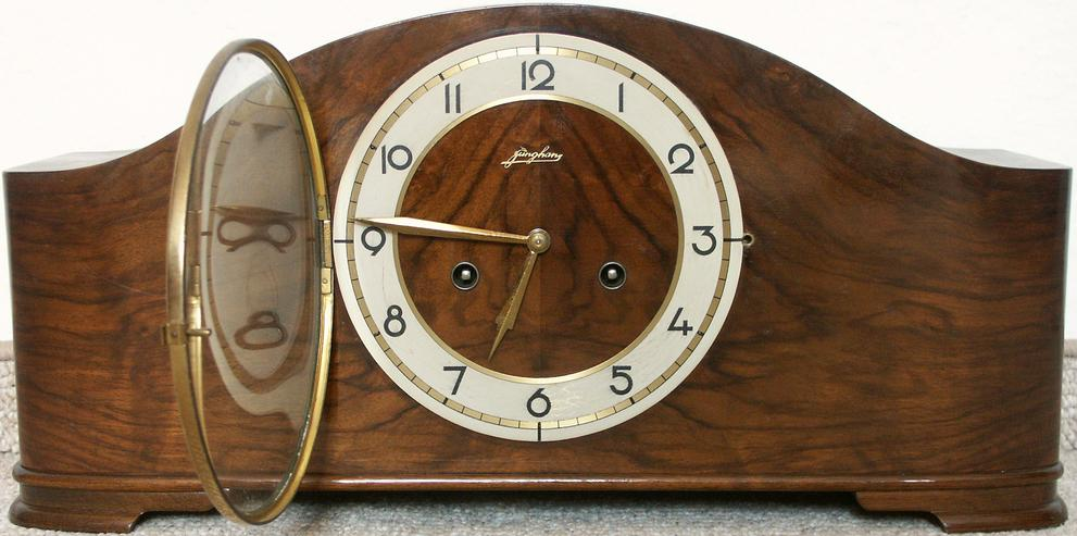 Junghans Kaminuhr W278a von 1939 mit Schlagwerk, geht noch - Uhren - Bild 1