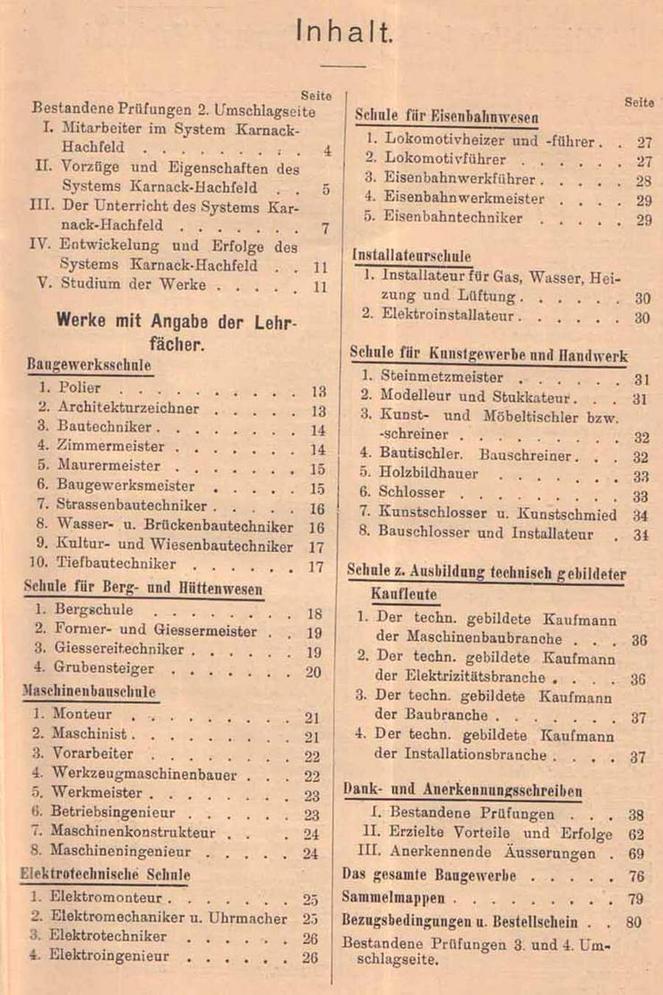 Bild 2: Unterrichtsbriefe für das Selbststudium technischer Wissenschaften - System Karnack-Hachfeld