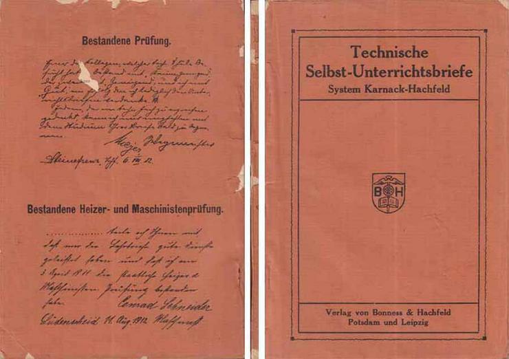 Unterrichtsbriefe für das Selbststudium technischer Wissenschaften - System Karnack-Hachfeld - Weitere - Bild 1