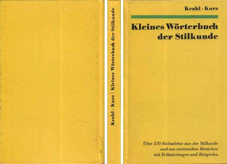 Kleines Wörterbuch der Stilkunde ein Buch von Siegfried Krahl & Josef Kurz - Wörterbücher - Bild 1