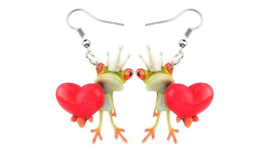 COOOL Ohrringe Hänger Frosch- König IN LOVE