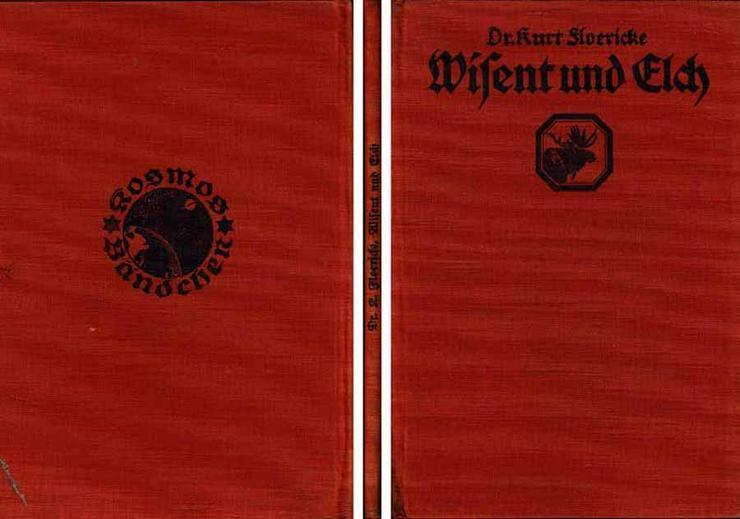 Buch von Dr. Kurt Floericke - Wisent und Elch - Zwei urige Recken - Tiere - Bild 1