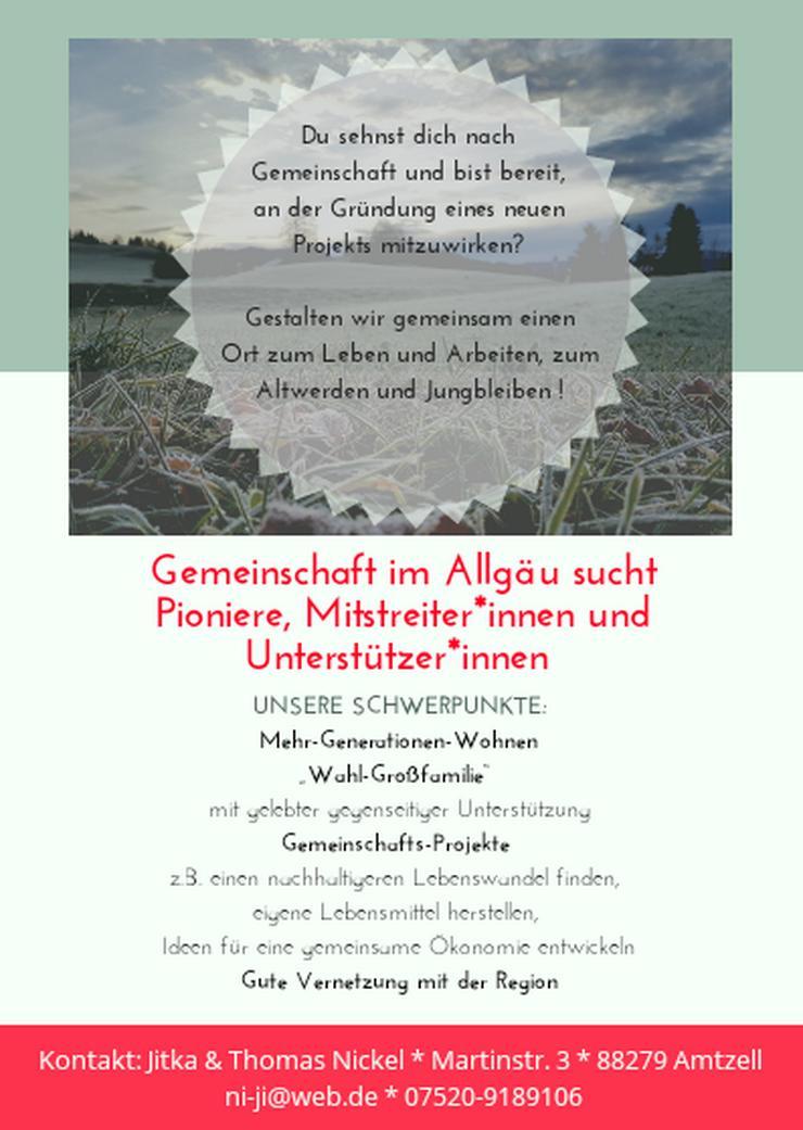 Gemeinschaft im Allgäu sucht Mitstreiter *innen!
