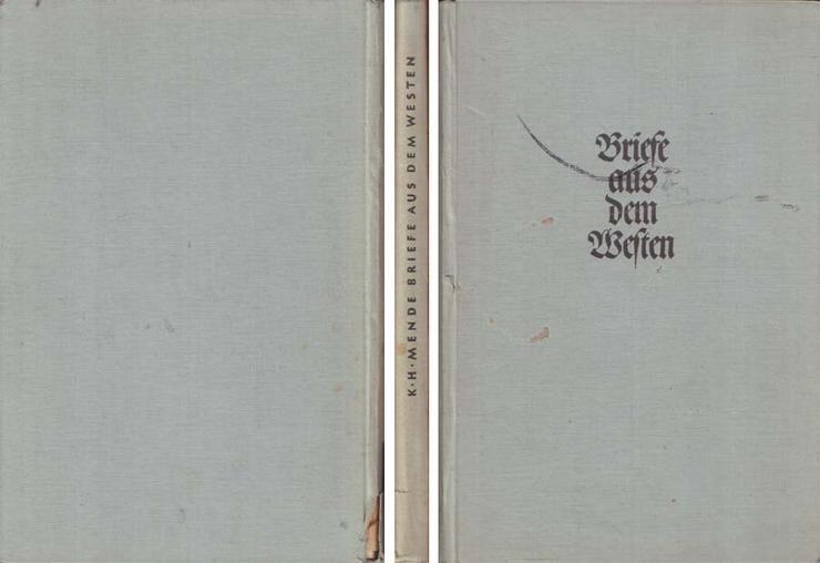 Buch von Karl Heinz Mende - Briefe aus dem Westen - 1940