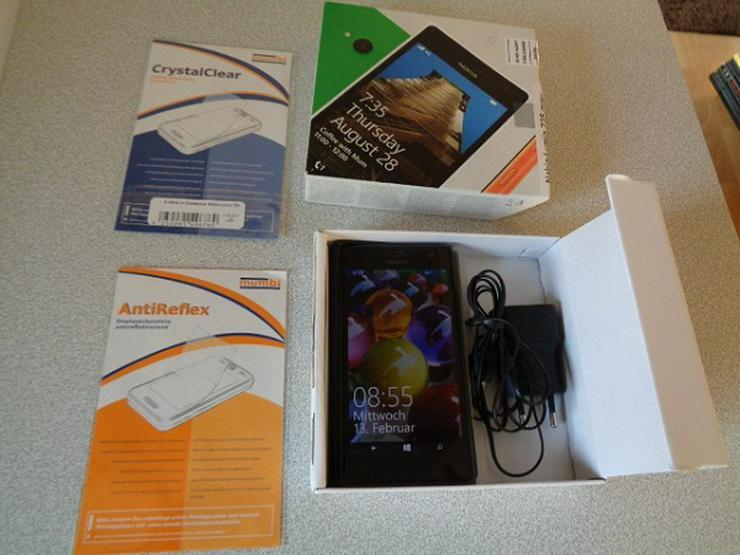 Windows Phone Nokia Lumia 735 mit Netzteil, Schutzhülle+2 Pakete Schutzfolie OVP