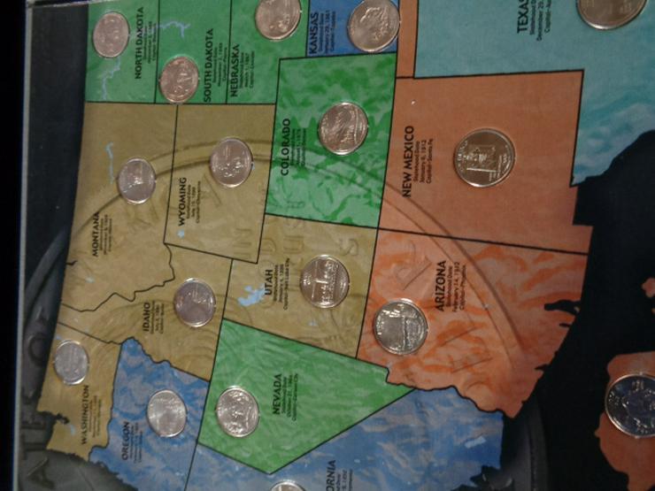 Bild 2: Münzsammlung US – Quarters Dollar 2 komplette Alben u.v.m
