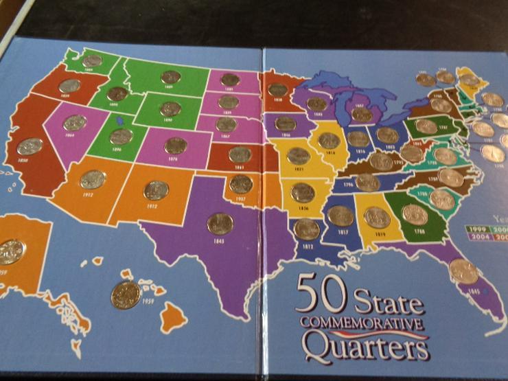 Bild 4: Münzsammlung US – Quarters Dollar 2 komplette Alben u.v.m