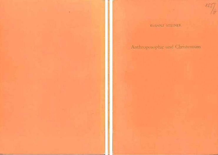 Rudolf Steiner - Anthroposophie und Christentum - Vortrag - 1960