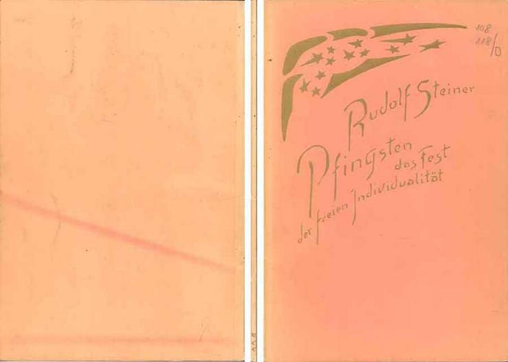 Rudolf Steiner - Pfingsten, das Fest der freien Individualität - 1959