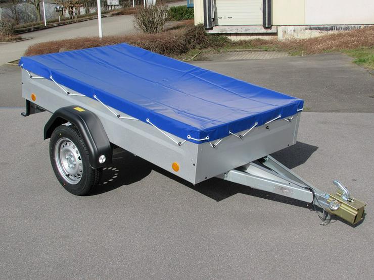 BÖCKMANN - TPV Anhänger mit Flachplane inkl. 100 km/h NEU
