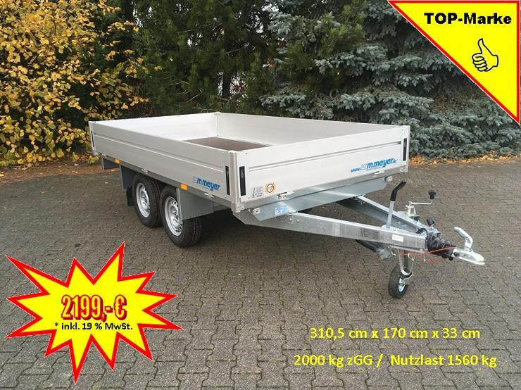 WM – Meyer 2000 kg Anhänger Hochlader in 310 cm