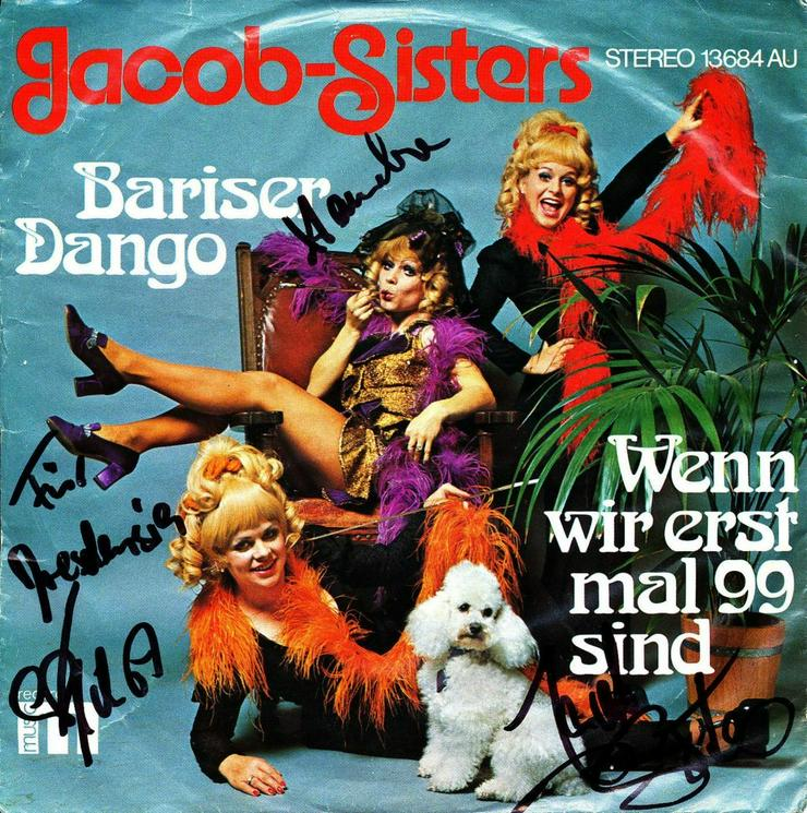"Jacob Sisters handsignierte Single ""Bariser Tango"