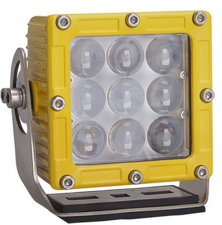 """CREE  LED,  45 Watt Arbeitsscheinwerfer  """" ACRI-XI """",  YELLOY Edition, incl. Kabelbaum, Trecker, Bagger, Lkw, - Zubehör & Ersatzteile - Bild 1"""