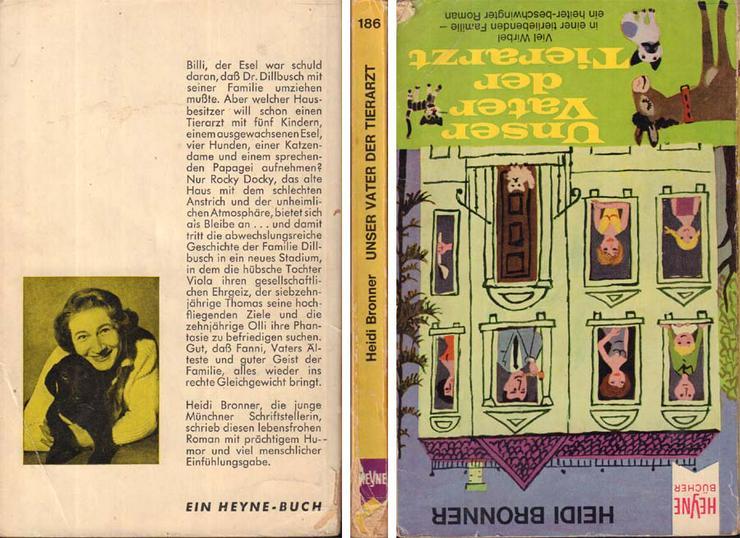 Taschenbuch - Unser Vater, der Tierarzt - ein Roman von Heidi Bronner - 1965