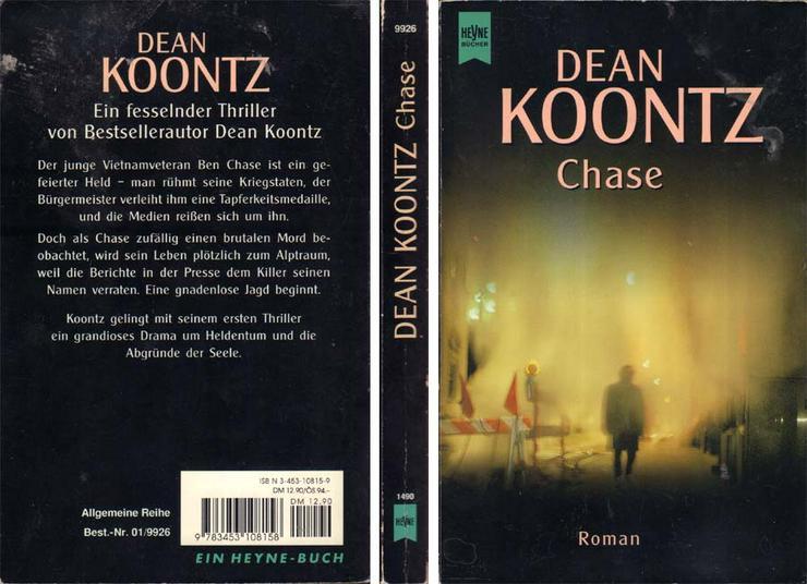 Taschenbuch - Chase - ein Roman von Dean Koontz - 2000 - Romane, Biografien, Sagen usw. - Bild 1