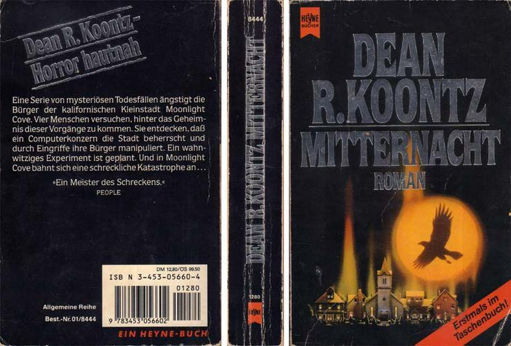 Taschenbuch - Mitternacht - ein Roman von Dean R. Koontz - 1992