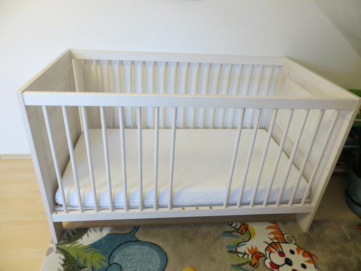 PAIDI Kinderbett mit Matratze, Unterlage und Bettbezügen