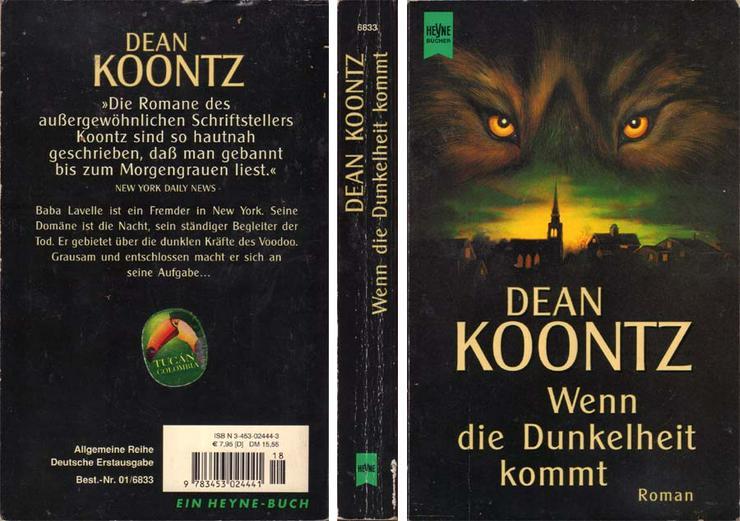 Taschenbuch - Dean R. Koontz - Wenn die Dunkelheit kommt - 2001