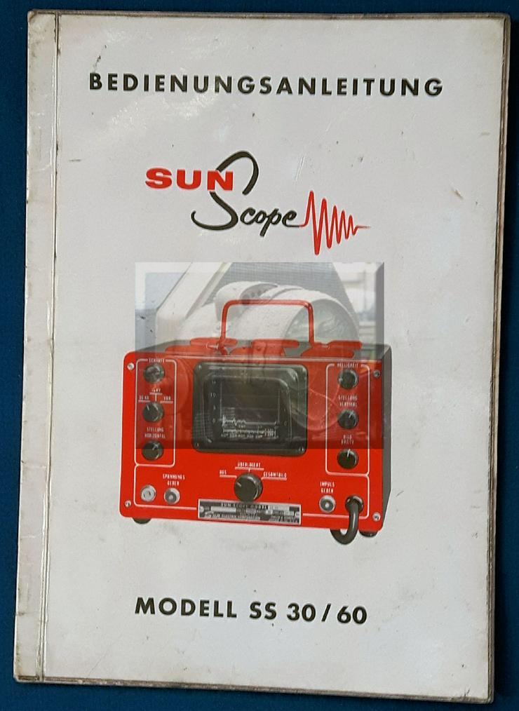 Sun Scope,  Modell SS 30 / 60 Tester , Bedienungsanleitung - Oldtimer - Bild 1