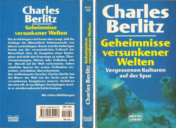 Taschenbuch - Geheimnisse versunkener Welten - von Charles Berlitz - 1996