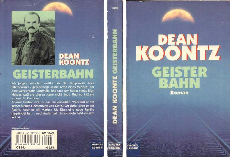 Taschenbuch - Dean R. Koontz - Geisterbahn - 2000