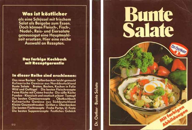 Taschenbuch - Bunte Salate - ein Dr. Oetker Kochbuch - 1984