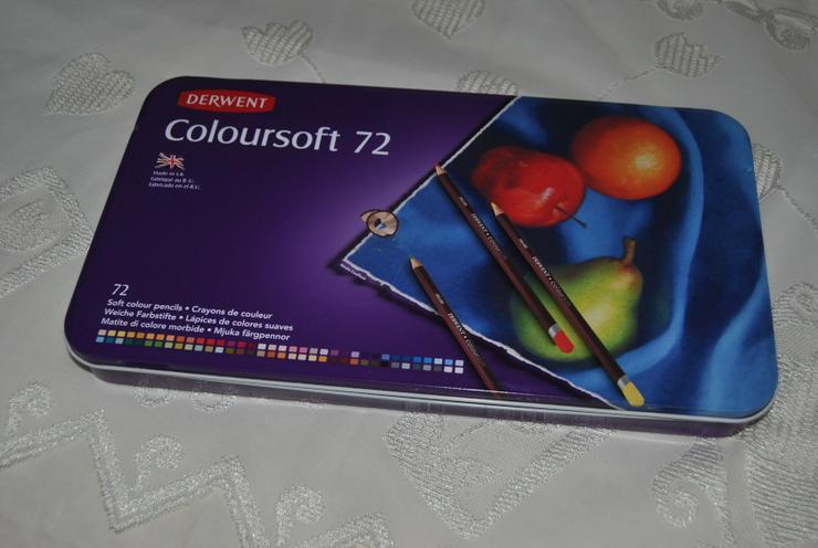 Derwent Coloursoft Glatte leuchtende Farbstifte / in Metalldose - 72 Stifte