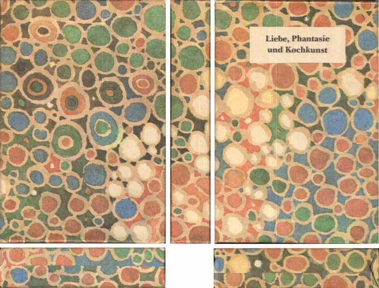 Bild 2: Minibuch in Papphülle - Liebe, Phantasie und Kochkunst - Ursula Winnington 1985