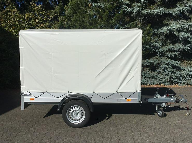 Bild 2: Lagerbestand: 1300 kg Anhänger Alu-Aufbau 251 cm mit Hochplane