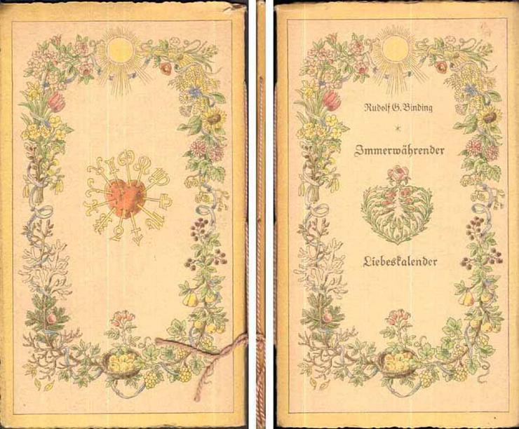 Immerwährender Liebeskalender - ein Heft von Rudolf G. Binding