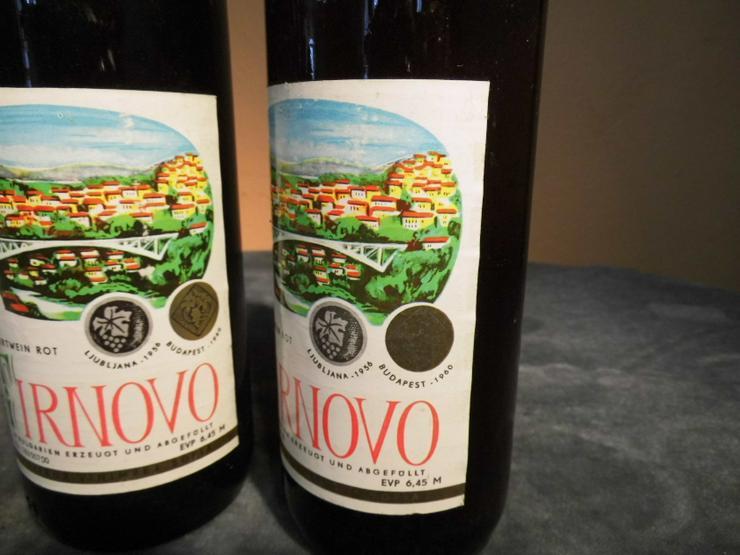 Bild 4: 2 Fl. bulgarischer Dessert - Wein TIRNOVO rot, für den Markt der DDR / Sammler