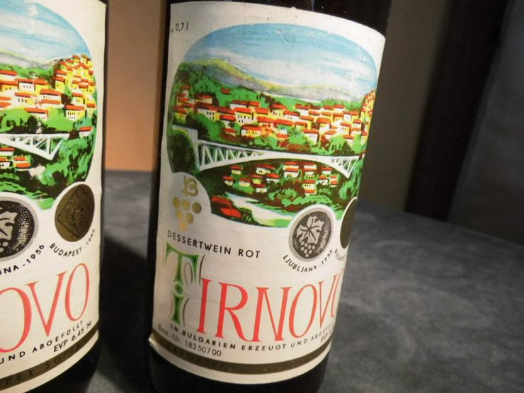 2 Fl. bulgarischer Dessert - Wein TIRNOVO rot, für den Markt der DDR / Sammler - Sonstige Weinsorten - Bild 2