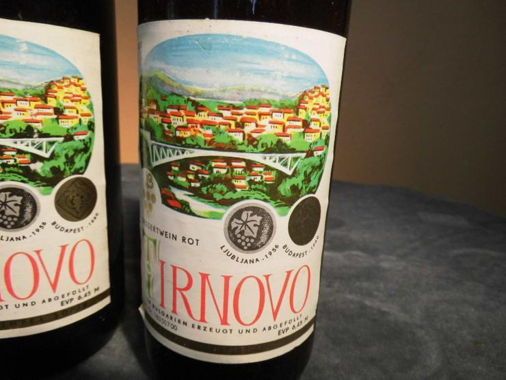 Bild 3: 2 Fl. bulgarischer Dessert - Wein TIRNOVO rot, für den Markt der DDR / Sammler