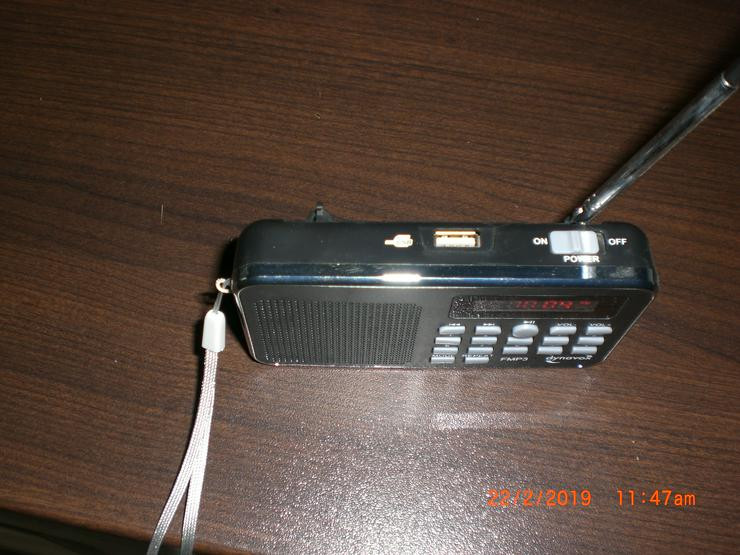 Bild 2: DYNAVOX FMP3 MP3-RADIO mit Akku Mini Radio Taschenradio MP3 FM