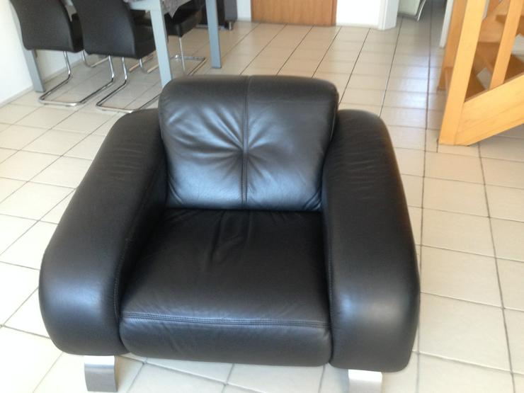 Leder Couch Garnitur   3-teilig