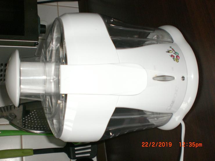 Bild 3: Elektrischer Entsafter Saftpresse  Obstpresse Zentrifuge